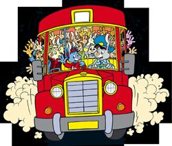 schoolreis-bus